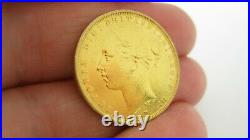 22ct Solid Gold Victorian Full Sovereign Coin Young Victoria Dated 1882 8 Gramme