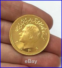 2 5 Pahlavi Gold Coin 2536 Kingdom 1977 Iran Persia 900