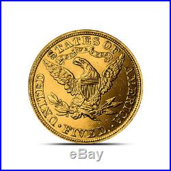 $5 Liberty Half Eagle Gold Coin About Uncirculated (AU) Random Dates/Years