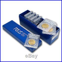 7-Coin $20 Saint-Gaudens Gold Double Eagle Date Set MS-63 PCGS SKU #78322
