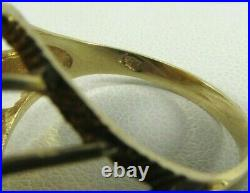 999 Panda 5 Yuan 1/20 OZ Solid Gold Coin in 14K Rope Bezel Ring Size 7.75 #R650