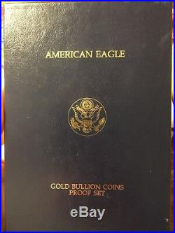 American Eagle Four (4) Gold Coin Proof Set 1994 With Box & Coa