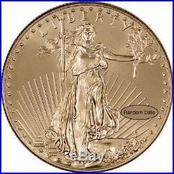 American Gold Eagle (1 oz) $50 Random Date 1 Roll 20 BU Coins in Mint Tube