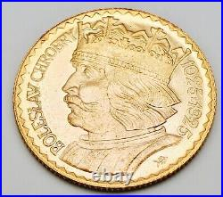 Antique 1925 European Polish Poland 10 Zotych Solid Gold Coin 3.2g