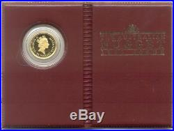 Australia 1990 25$ Australian Nugget Grey Kangaroo 1/4 oz Proof Gold Coin