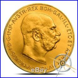 Austria 100 Corona Gold Coin 0.9802 Oz Random Date (Our Choice) AU/BU