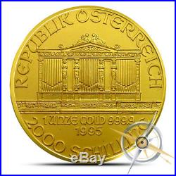 Austria 1 oz. 9999 Fine Gold Philharmonic Coin Random Year (Our Choice) BU