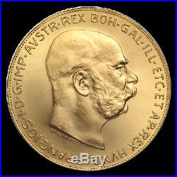 Austria Gold 100 Corona Coin BU Random Year (AGW 0.9802 oz) SKU #167645