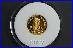 Beautiful SOLID GOLD CACIQUES DE VENEZUELA Chief PARAMACAY Coin