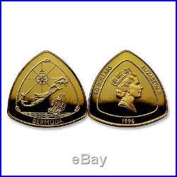 Bermuda 1996 Bermuda Triangle $180 Gold Proof Coin with Box & COA SKU#7086