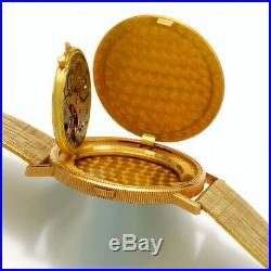 Bueche Girod Watch 18/22K U. S. $20 Gold Coin with 18K Gold Band 17 Jewel Movt