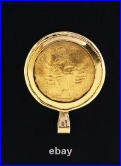 Byzantine Solid Gold Coin, John II, Mounted Pendant