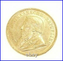 Coin Gold Solid 22K South Africa 1 Pond 1898 Paul Kruger Good Condition