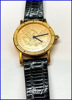 Corum 18K 1905 $5 Liberty Gold Coin Wrist Watch RUNS GREAT