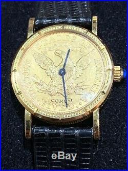 Corum 18k Gold $5 Coin Ladies Watch