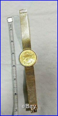Corum 1904 24k / 18k Twenty Dollars $20D Gold Coin Watch Manual wind Flip up lid