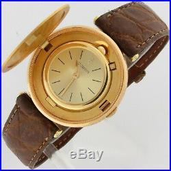 Corum $20 Dollars Liberty Coin 18K Solid Gold Mechanical Flip Case Watch 34.5mm