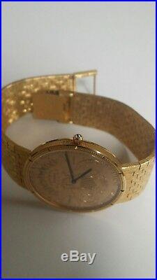Corum $20 Double Eagle 1893 Gold Coin Watch 18K