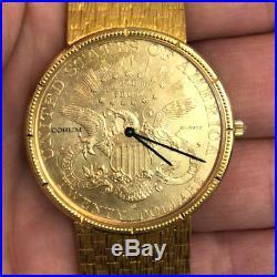 Corum $20 Gold Coin Watch on 18K Gold Bracelet