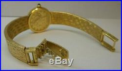 Corum $5 Liberty Head Gold 22k Coin 18k (. 750) Band Wristwatch AUTHENTIC! F151