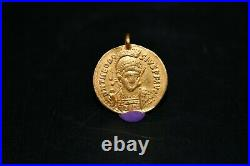 Extremely Rare Authentic Ancient Byzantine Gold Coin Weighing 3.6GR Good Quality