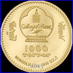 GOLD COIN Mahatma Gandhi Goldmünze 0,5 g 9999 AU PROOF 2020