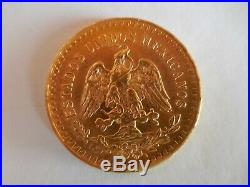 Gold Mexico 50 Pesos coin, uncirculated 1926, 1.2056 oz