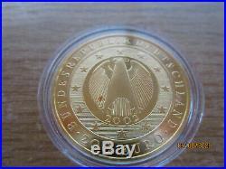 Gold coin germany eagle 200 Euro European Monetary Union 2002 mint D Munich