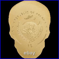 Golden Catrina Skull Palau 0,5 g Goldmünze 9999 AU coin with COA & BOX