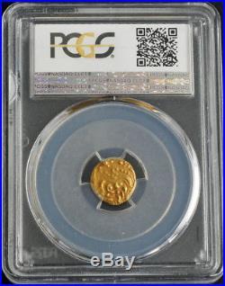 India, Western Ganga Dynasty (1080-1138AD) Gold Elephant Pagoda Coin. PCGS AU58