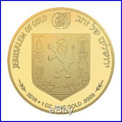 Israel 2016 Mishkenot Sha'ananim Gold Bullion. 9999 Coin Commemorative