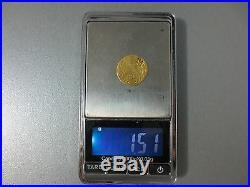 LARGE OTTOMAN GOLD TURKISH TURKEY ISLAMIC COIN VERY RARE 1.51gram #5