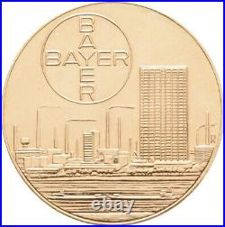 Leverkusen Goldmedaille 1963 Bayer GOLD 9,46 g Feingold Münze Coin (B246)