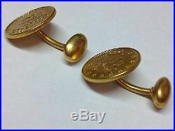 Liberty Coins 1898 & 1903 Solid Gold Cufflinks