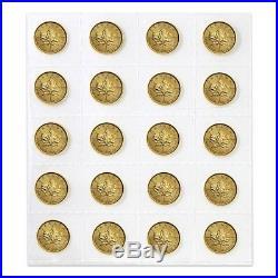 Lot of 20 2018 1/10 oz Canadian Gold Maple Leaf $5 Coin. 9999 Fine BU (Sealed)