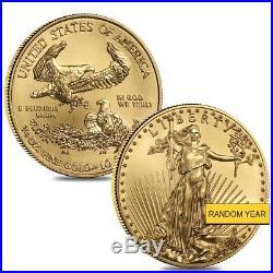 Lot of 2 1/4 oz Gold American Eagle $10 Coin BU (Random Year)