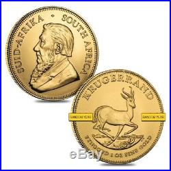 Lot of 2 1 oz South African Krugerrand Gold Coin BU (Random Year)