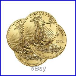 Lot of 4 Gold 2020 Gold 1/4 oz Gold American Eagle $10 US Mint Gold Eagle Coins