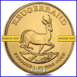 Lot of 5 1 oz South African Krugerrand Gold Coin (Random Year)