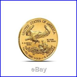 Lot of 5 2018 1/10 oz Gold American Eagle Coin $5 Gem BU Mint Fresh Coins