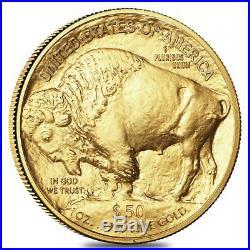 Lot of 5 2019 1 oz Gold American Buffalo $50 Coin BU