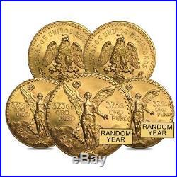Lot of 5 50 Pesos Mexican Gold Coin (Random Year)
