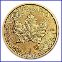 Lot of 5 Canadian 1 oz. Gold Maple Leaf. 9999 fine Random Year 1oz RCM $50 Coins