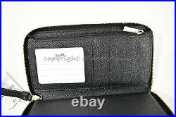 NWT Coach F75908 Large Leather Horse and Carriage Phone Wallet in Black/Gold