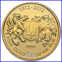 ON SALE! 1/4 oz Canadian War of 1812 Gold Coin (BU)