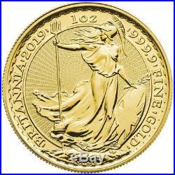 ON SALE! 2019 1 oz British Gold Britannia Coin (BU)