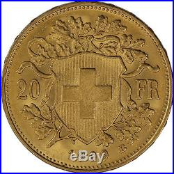 ON SALE! 20 Francs Swiss Gold Coin Helvetia (BU)
