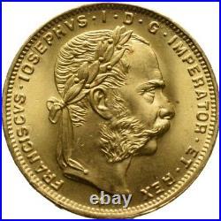 Österreich 8 Florin 6,45 Gramm 900 fein GOLD Münze Coin (B249)