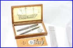 Parker 75 SPANISH TREASURE 1715 Fleet Fountain Pen & Ballpoint set NEW with Coin