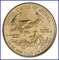 RANDOM DATE 1/10 oz Fine Gold American Eagle $5 Coin SKU26123